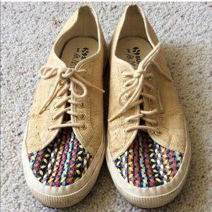 Superga + Amlul size 9/10 raffia sneakers
